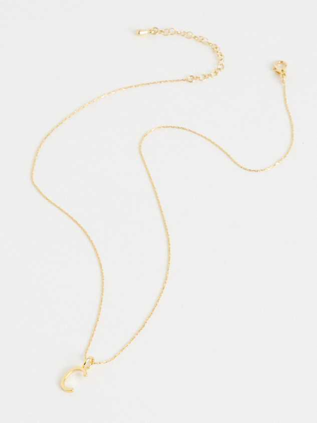 18k Gold Initial Charm - C Detail 3 - Altar'd State