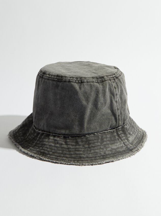 Distressed Denim Bucket Hat Detail 1 - Altar'd State