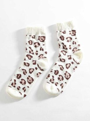 Snow Leopard Crew Sock - Altar'd State