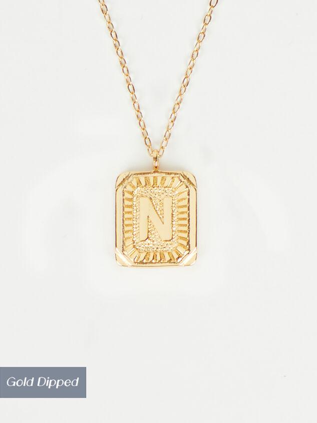Burst Tag Monogram Necklace - N - Altar'd State