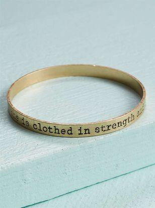 Strength & Dignity Bangle Bracelet - Altar'd State