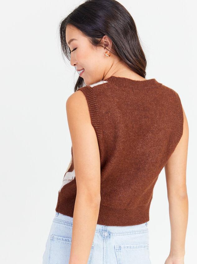 Varsity Sweater Vest Detail 3 - Altar'd State