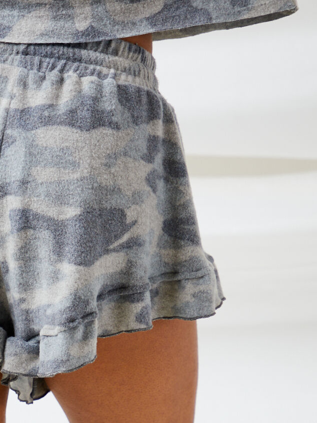 Brushed Camo Lounge Shorts Detail 6 - Altar'd State