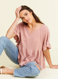 V-neck Ruffle Tiered Top - Altar'd State