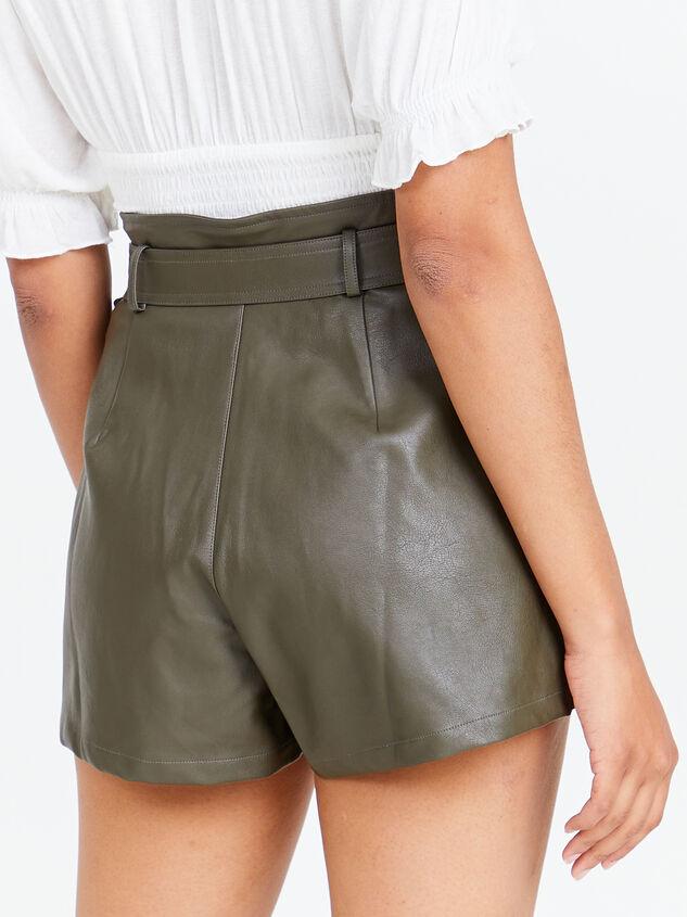 Austin Vegan Leather Shorts Detail 3 - Altar'd State