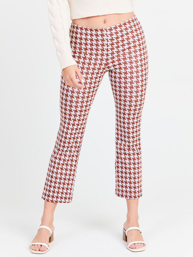Houndstooth Kick Flare Pants - Altar'd State
