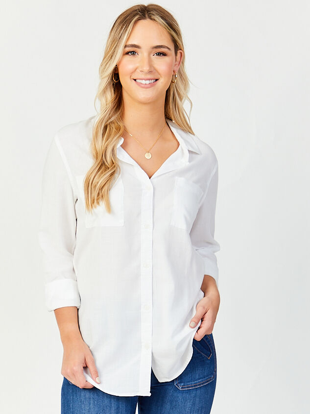 Josephina Button Up Top Detail 1 - Altar'd State
