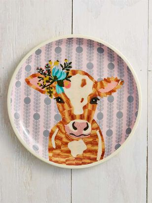 Floral Cow Plate - Altar'd State