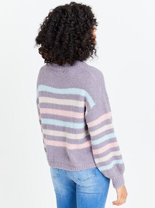 Striped Teddy Sweater - Altar'd State