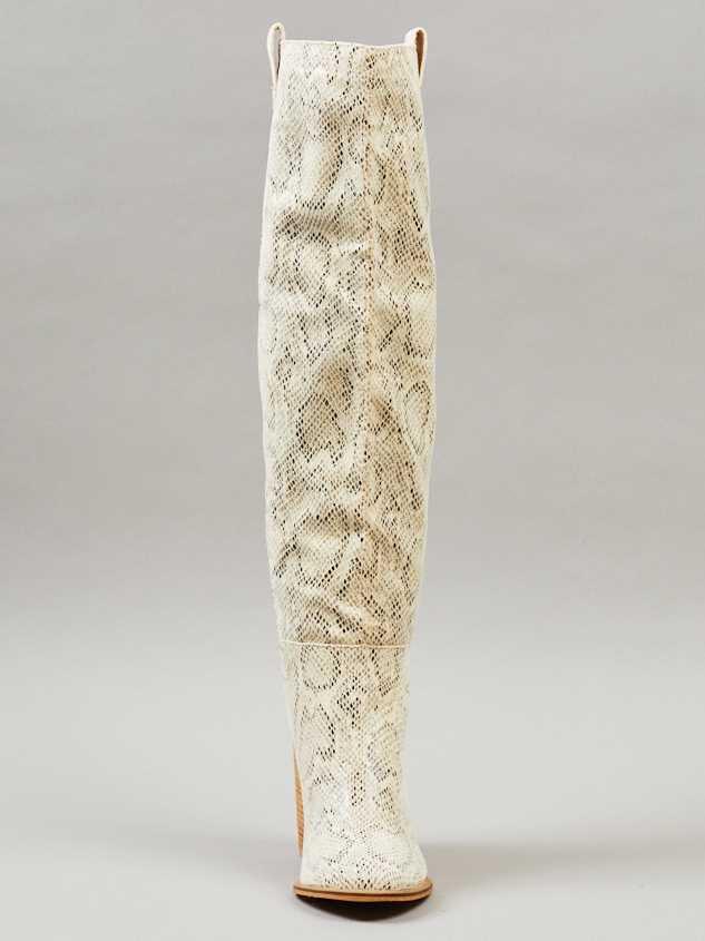 Angel Snakeskin Knee High Boots Detail 3 - Altar'd State