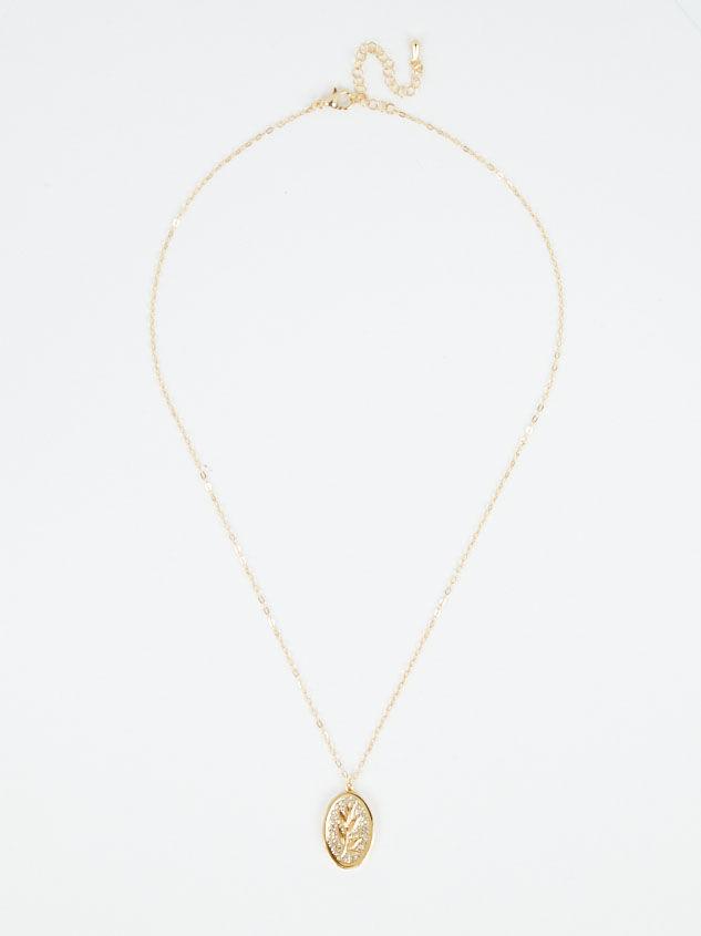 Gold Leaf Charm Necklace Detail 3 - Altar'd State