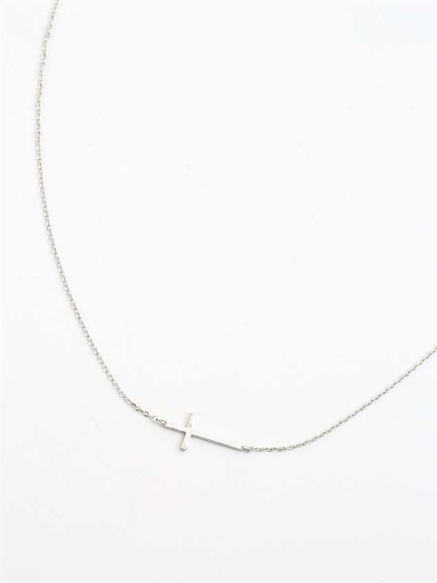 Dainty Cross Necklace - Altar'd State