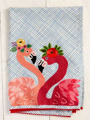Embroidered Flamingo Towel - Altar'd State