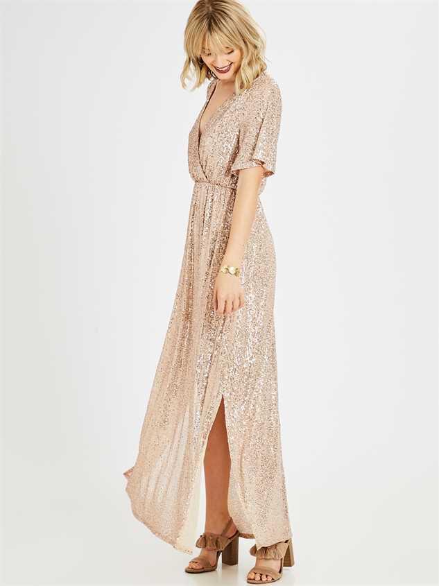 Adela Maxi Dress Detail 2 - Altar'd State