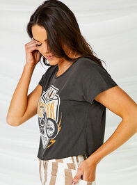 American Motorcycle Cropped Tee Detail 2 - Altar'd State