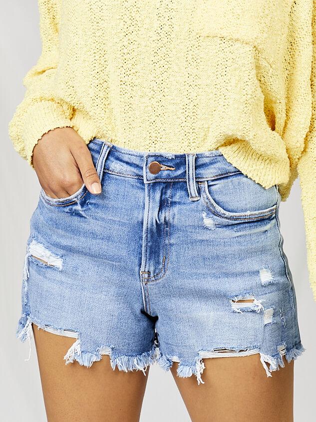 Cason Denim Shorts - Altar'd State