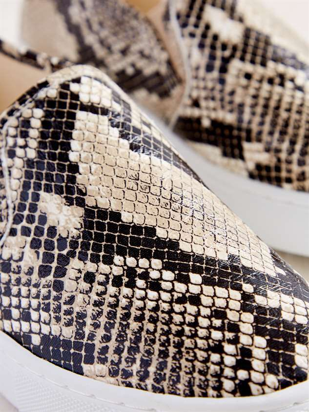 Loni Snakeskin Sneakers Detail 4 - Altar'd State