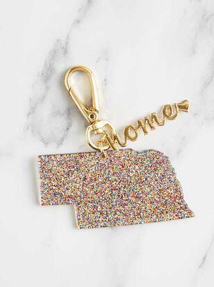 Home Glitter Keychain - Nebraska - Altar'd State