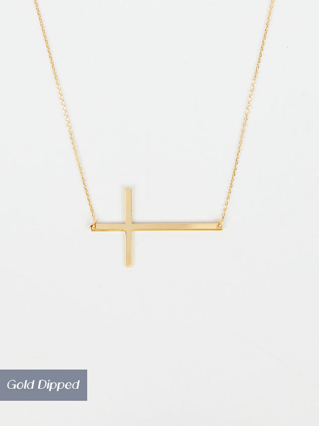 14k Gold Dipped Statement Cross Necklace - Altar'd State