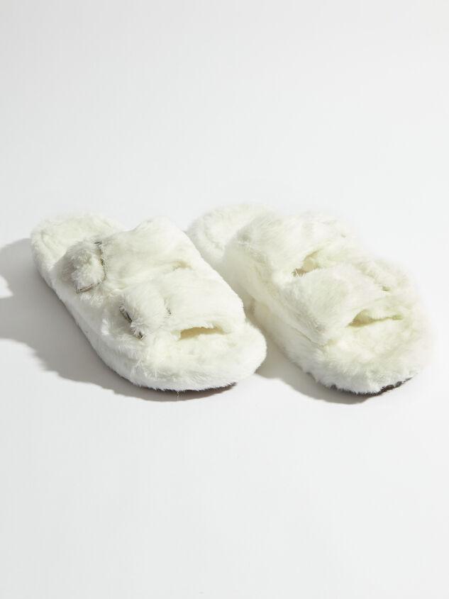Double Buckle Fur Slides - Altar'd State