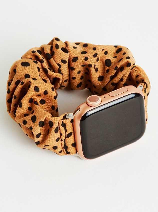 Dalmatian Scrunchie Smart Watch Band - Brown - Altar'd State