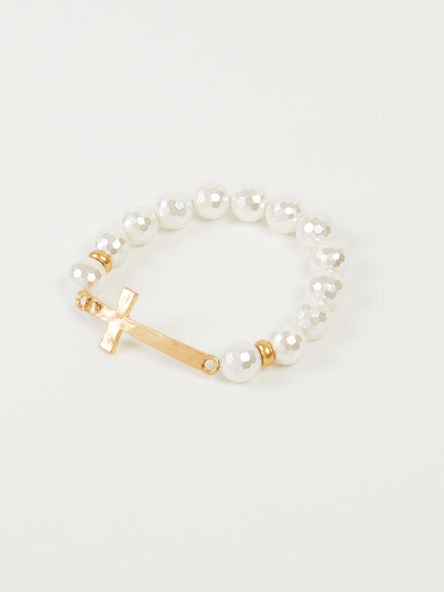 Pearl Cross Bracelet - Altar'd State