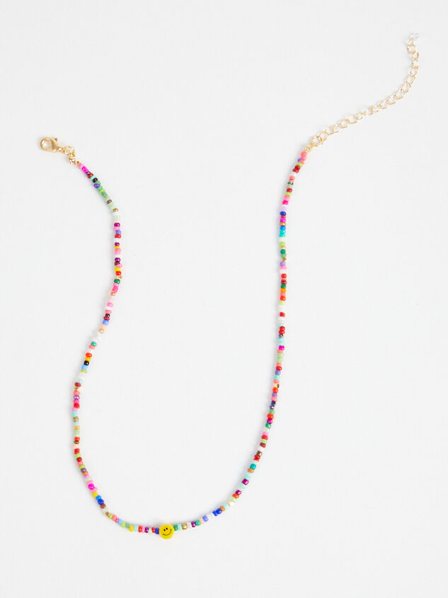 Dainty Smiley Choker Necklace Detail 2 - Altar'd State