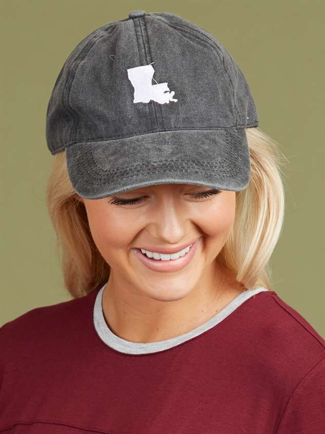 Our Home Canvas Baseball Hat - Louisiana Detail 2 - Altar'd State