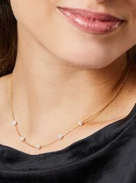 18k Gold Pearl Charm Necklace Detail 3 - Altar'd State