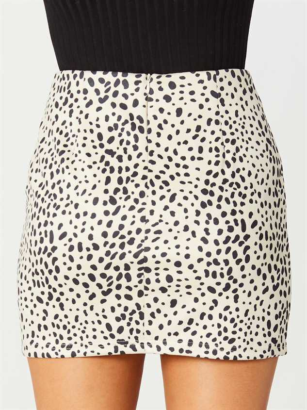 Rainey Dalmatian Skirt Detail 4 - Altar'd State