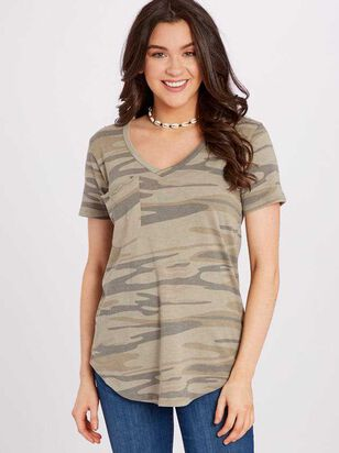 The Camo Burnout Tee - Altar'd State