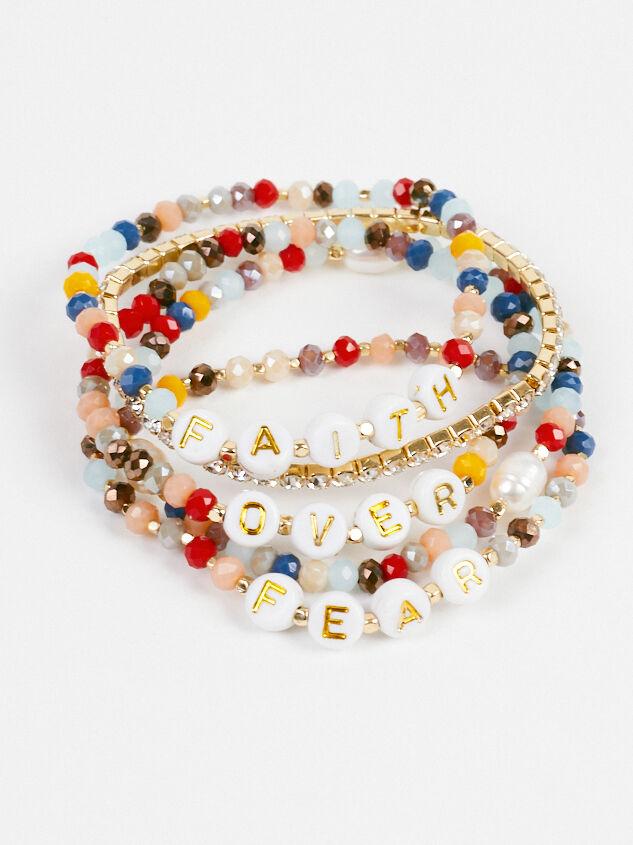 Faith Over Fear Stretch Bracelet Set - Altar'd State