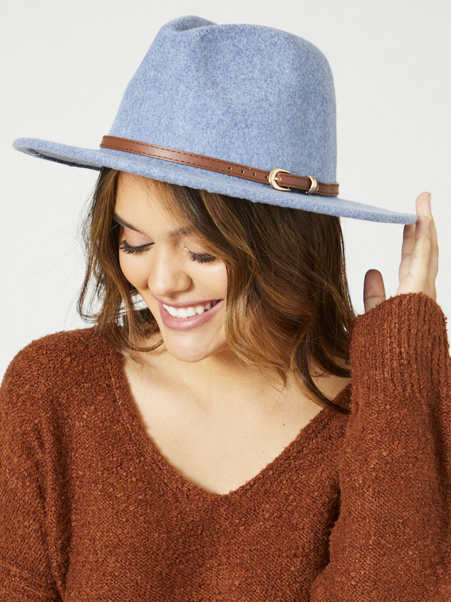 Leif Hat - Dusty Blue Detail 3 - Altar'd State