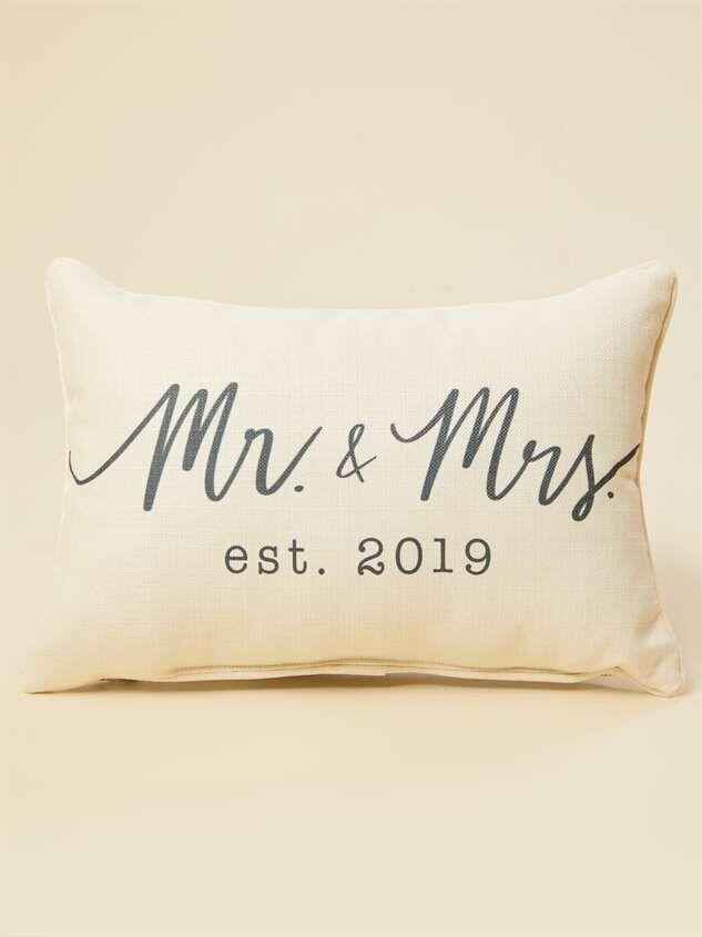 Mr. and Mrs. Established 2019 Pillow - Altar'd State