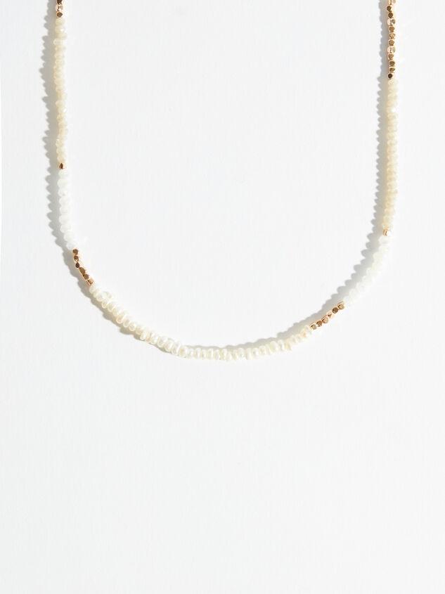 Shiny Ivory Choker Detail 2 - Altar'd State