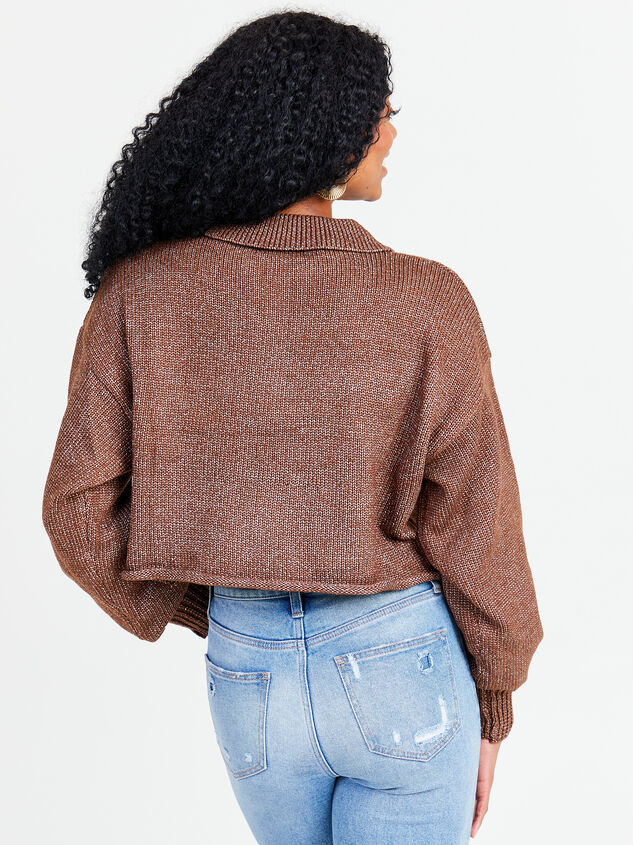 Polo Boxy Cropped Sweater Detail 3 - Altar'd State