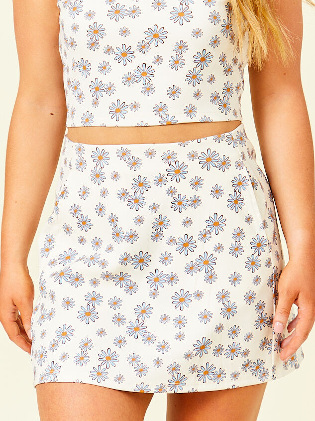 Dilyn Retro Floral Skirt Detail 2 - Altar'd State