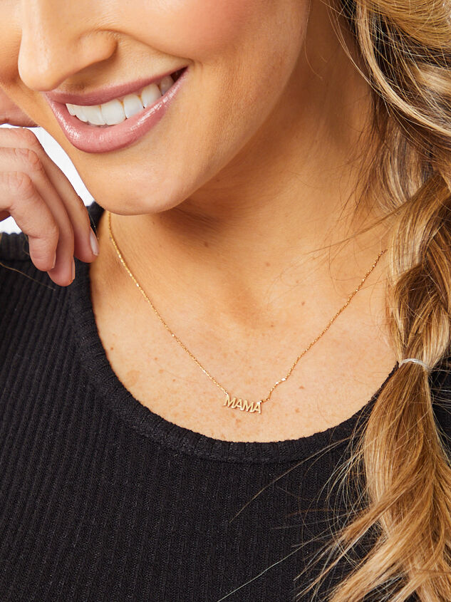 Mama 18k Gold Necklace Detail 2 - Altar'd State