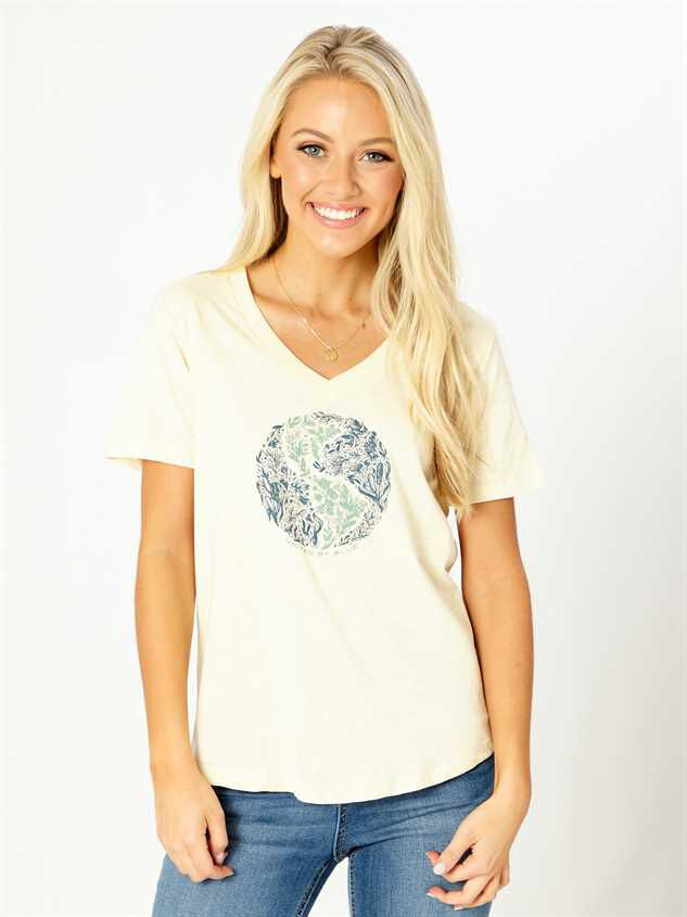 United By Blue Rooted in Nature Tee - Ivory - Altar'd State