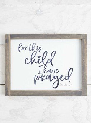 For This Child I Have Prayed Wall Art - Altar'd State