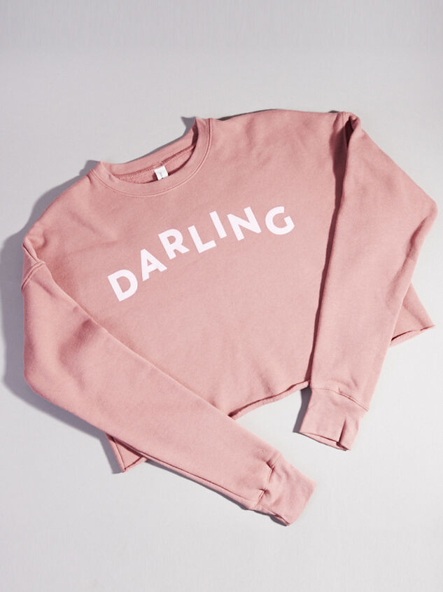 Vow'd DARLING Cropped Sweatshirt - Altar'd State