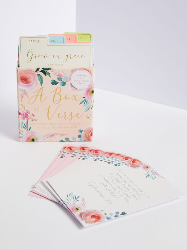 Floral Box of Bible Verse Cards Detail 1 - Altar'd State