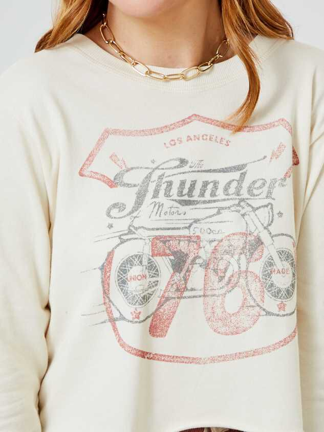 Thunder Moto Cropped Pullover Detail 4 - Altar'd State