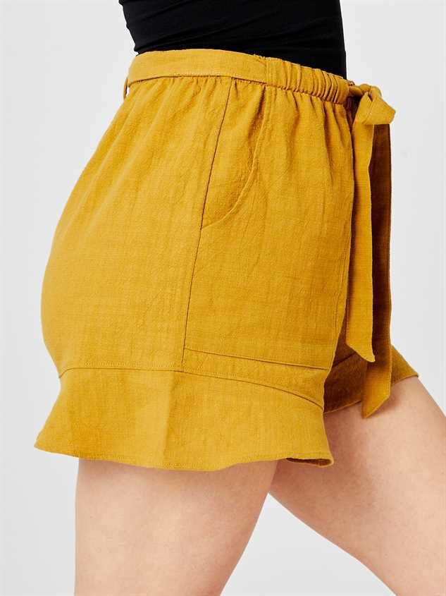 Leta Tie Waist Shorts Detail 3 - Altar'd State
