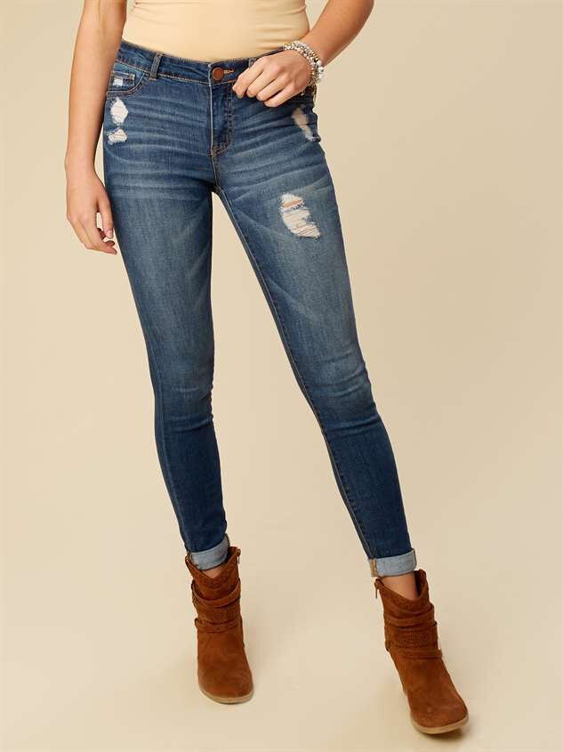 Hadley Cuffed Wash Jeans - Altar'd State