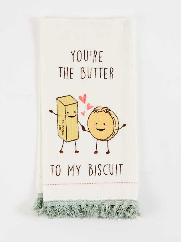 Butter To My Biscuit Dish Towel - Altar'd State