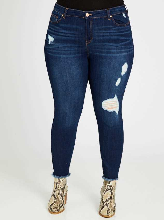 Feather Skinny Jeans Detail 2 - Altar'd State