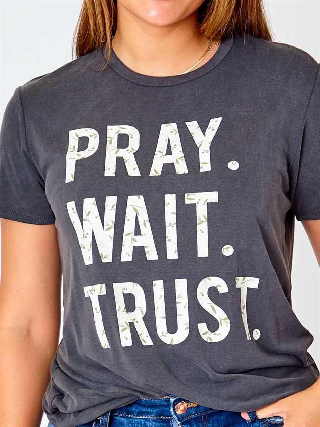 Pray. Wait. Trust. Top - Black Detail 4 - Altar'd State