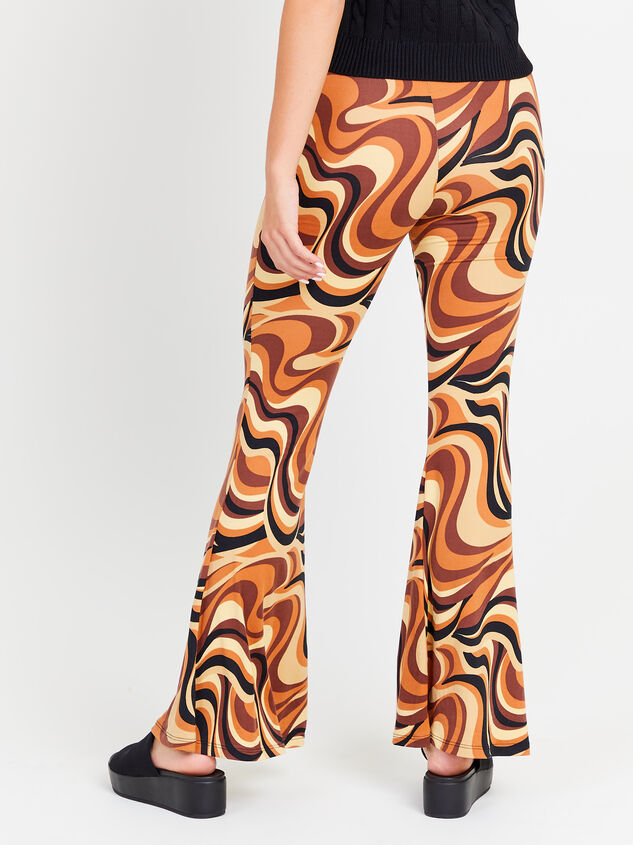 Retro Swirl Flare Pants Detail 3 - Altar'd State