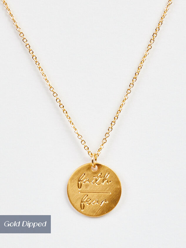 Faith Over Fear Necklace - Altar'd State